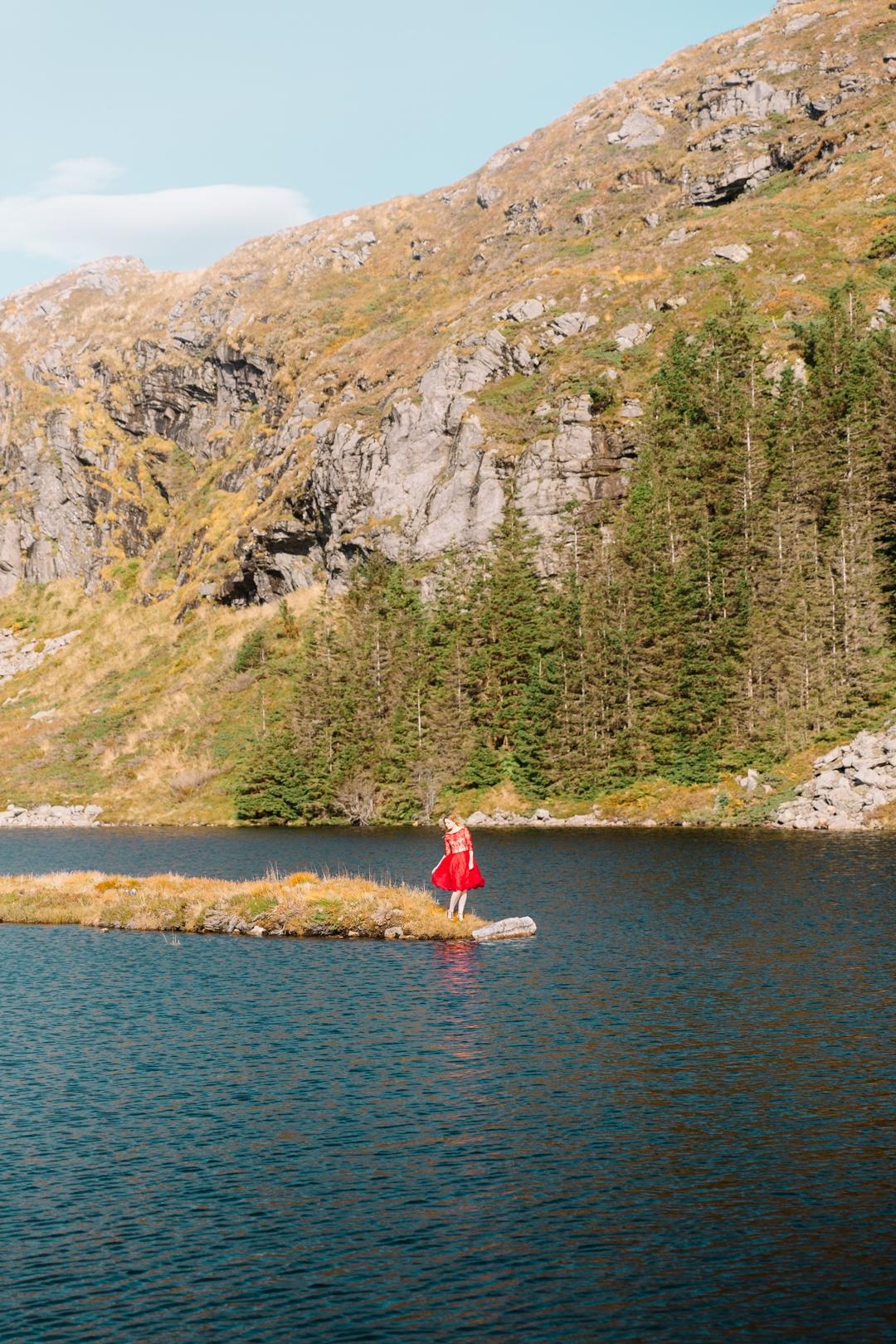 Tiny Twisst Red Dress Norway Portrait-1