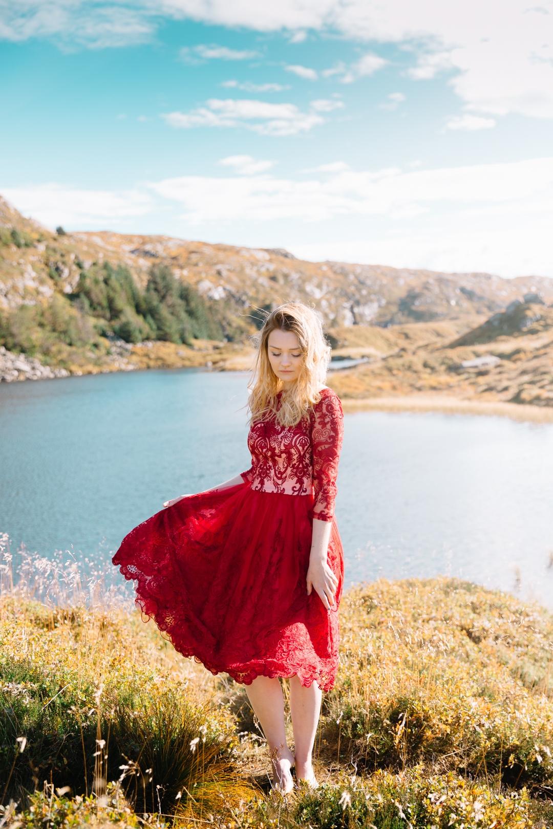 Tiny Twisst Red Dress Norway Portrait-2