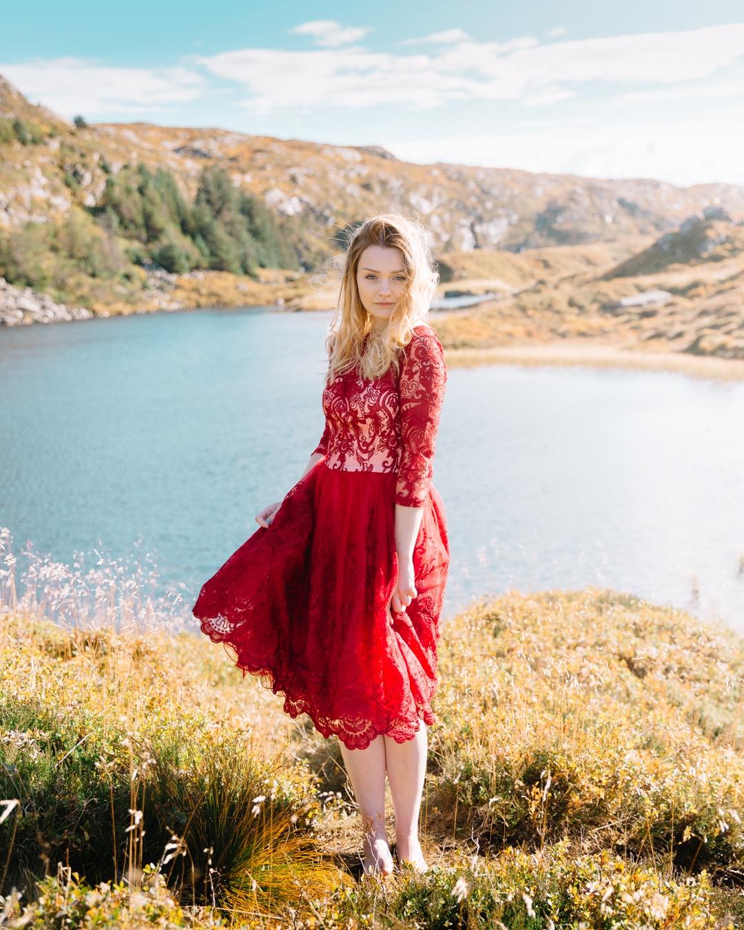 Tiny Twisst Red Dress Norway Portrait-3