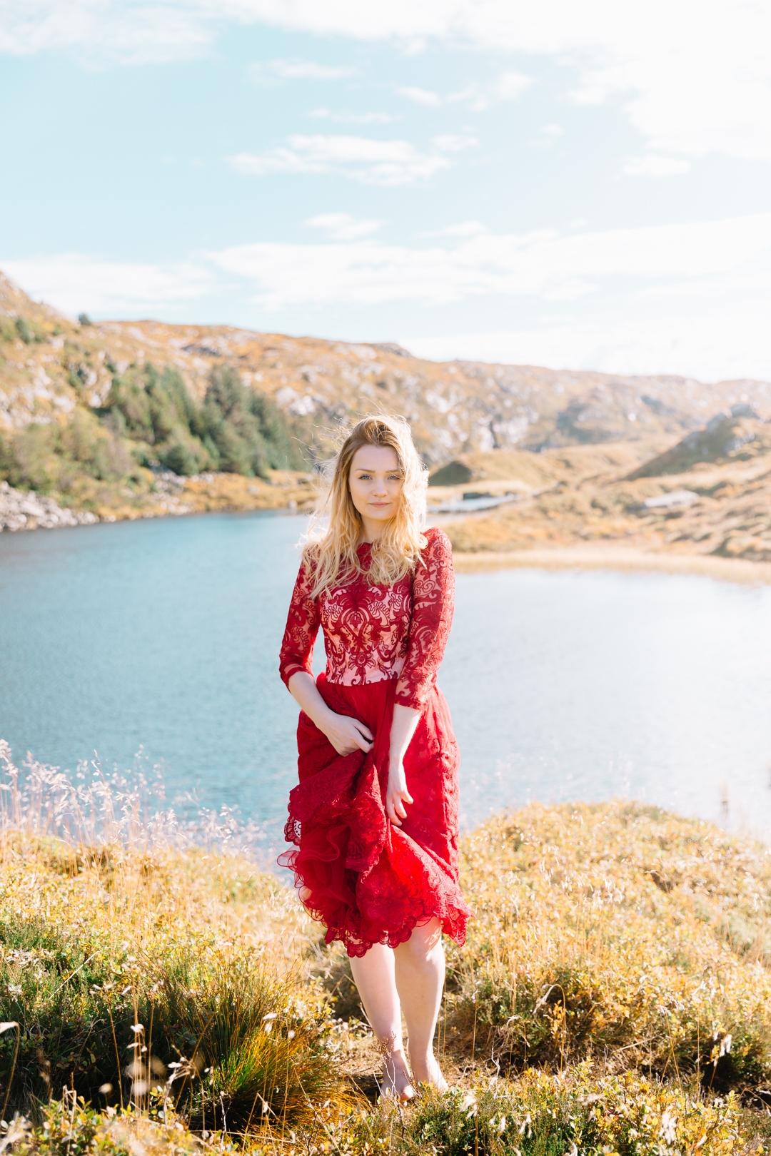 Tiny Twisst Red Dress Norway Portrait-4
